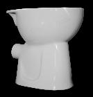 IT 613W, Hátsó kifolyású magasított WC kerekesszékesek számára