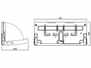AS 899 Vízszintes Lehajtható baba pelenkázó
