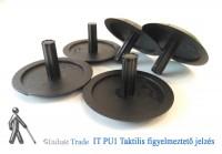 IT PU1-FL Taktilis figyelmeztető jelzés - fekete színben - lefúrható változat