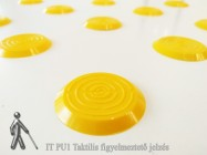 ITPU1 Taktilis figyelmeztető jelzés - sárga színben