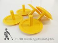 IT PU1-SL Taktilis figyelmeztető jelzés - sárga színben - lefúrható változat