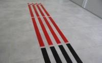 ITPP1 taktilis vezetősáv - piros színben
