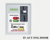 IT-AUT-SNG-DOOR Érmével vagy zsetonnal működtethető ajtónyitó automata