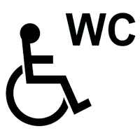 Accessible sanitary  for disabled people