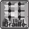 Braille információs táblák