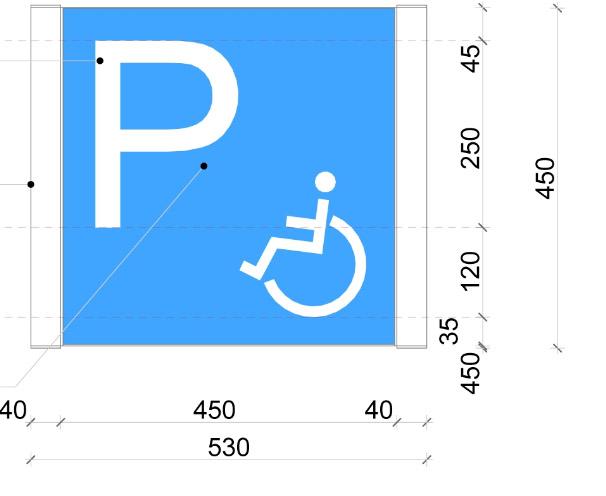 Akadálymentes parkoló tábla